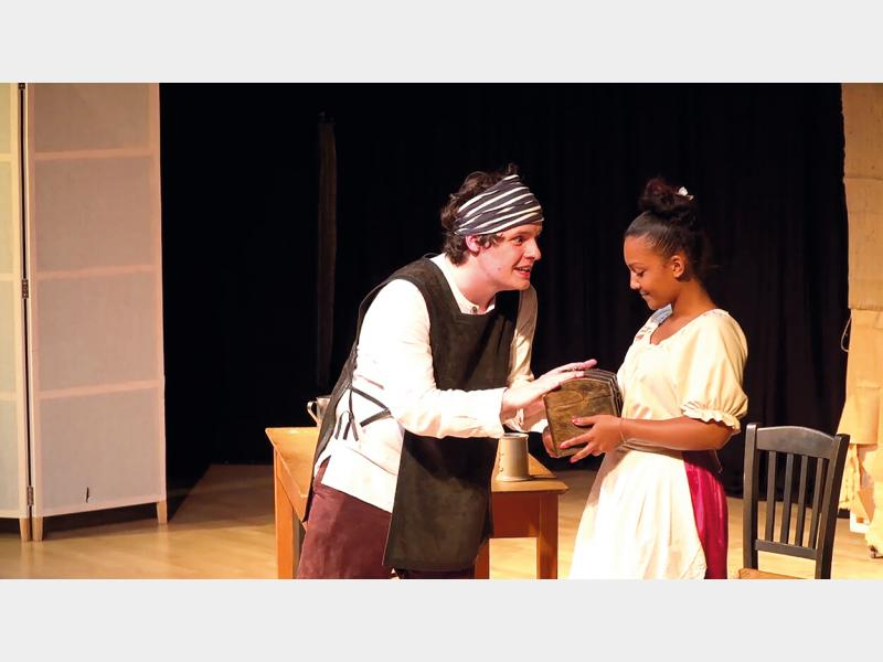 Drama students performing in production of Beaux Stratagem
