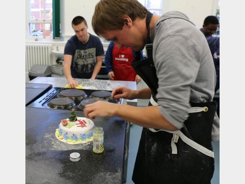 Supported Learning Students in Cookery Class