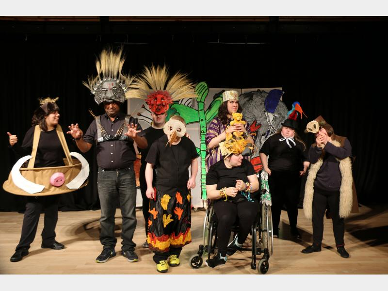 Supported Learning Students Performing The Lion King